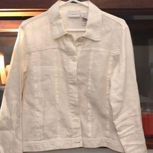 Liz Claiborne linen jacket size L